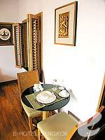 バンコク ワイヤレスロードのホテル : センター ポイント プルンチット ホテル(Grande Centre Point Hotel Ploenchit)のスタジオ ルームルームの設備 Dining