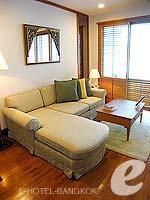 バンコク ワイヤレスロードのホテル : センター ポイント プルンチット ホテル(Grande Centre Point Hotel Ploenchit)の1ベッドルーム(ダブル)ルームの設備 Living Room