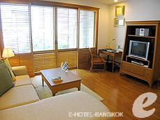 バンコク BTSプルンチット駅のホテル : センター ポイント プルンチット ホテル(Grande Centre Point Hotel Ploenchit)のお部屋「1ベッドルーム(トリプル)」