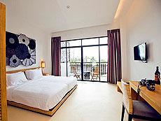 パタヤ ファミリー&グループのホテル : チャムズ ハウス コ クッド リゾート(1)のお部屋「デラックス オーシャン ビュー」