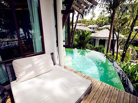 パタヤ ファミリー&グループのホテル : チャムズ ハウス コ クッド リゾート(1)のお部屋「トロピカル プール ヴィラ」