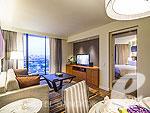 バンコク シーロム・サトーン周辺のホテル : チャトリウム レジデンス バンコク サトーン(Chatrium Residence Sathon Bangkok)のデラックス 1ベッドルーム スイートルームの設備 Room View