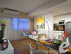 バンコク スクンビットのホテル : シタディーヌ バンコク スクンビット 23(Citadines Bangkok Sukhumvit 23)のお部屋「1ベットルーム デラックス(ダブル)」
