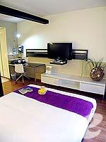 バンコク スクンビットのホテル : シタディーヌ バンコク スクンビット8(Citadines Bangkok Sukhumvit 8)のスタジオ エグジクティブ(ダブル)ルームの設備 Bedroom