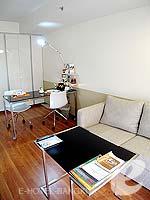 バンコク スクンビットのホテル : シタディーヌ バンコク スクンビット8(Citadines Bangkok Sukhumvit 8)の1 ベッドルーム デラックス(シングル)ルームの設備 Living Area