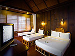 Bed Room : Family Bungalow at Coco Palm Beach Resort, Maenam Beach, Samui