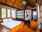 Bed Room : Beachfront Pool Villa Two Bedroom at Coco Palm Beach Resort, Maenam Beach, Samui