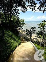 Stair to Private Beach : Crown Lanta Resort And Spa, Fitness Room, Phuket