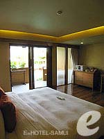 サムイ島 チョンモーンビーチのホテル : デヴァ サムイ リゾート & スパ(Deva Beach Resort & Spa)のデラックスルームの設備 Bedroom