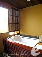 サムイ島 チョンモーンビーチのホテル : デヴァ サムイ リゾート & スパ(Deva Beach Resort & Spa)のグランド デラックスルームの設備 Bathroom