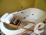 サムイ島 チョンモーンビーチのホテル : デヴァ サムイ リゾート & スパ(Deva Beach Resort & Spa)のプールヴィラルームの設備 Bathtub