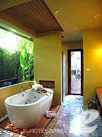 サムイ島 チョンモーンビーチのホテル : デヴァ サムイ リゾート & スパ(Deva Beach Resort & Spa)のグランド プールヴィラルームの設備 Bathroom