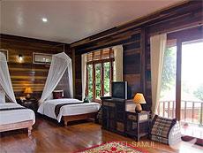 サムイ島 タオ島のホテル : ドゥシットブンチャ リゾート(1)のお部屋「スーペリア ヴィラ シービュー」