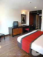 パタヤ サウスパタヤのホテル : サンビーム ホテル パタヤ(Sunbeam Hotel Pattaya)のスーペリア (シングル)ルームの設備 Bedroom