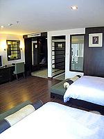 パタヤ サウスパタヤのホテル : サンビーム ホテル パタヤ(Sunbeam Hotel Pattaya)のデラックス(シングル)ルームの設備 Bedroom