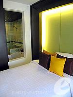 パタヤ サウスパタヤのホテル : サンビーム ホテル パタヤ(Sunbeam Hotel Pattaya)のデラックス(ツイン/ダブル)ルームの設備 Bedroom
