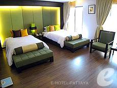 パタヤ サウスパタヤのホテル : サンビーム ホテル パタヤ(1)のお部屋「デラックス(ツイン/ダブル)」