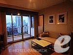 バンコク サイアム・プラトゥーナムのホテル : エバーグリーン プレイス バンコク バイ アーバン ホスピタリティ(Evergreen Place Bangkok by Urban Hospitality)のデラックス スイートルームの設備 Room View