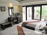 サムイ島 5,000円以下のホテル : エヴァーグリーン リゾート(Evergreen Resort)のスーペリア ビルディングルームの設備 Bedroom