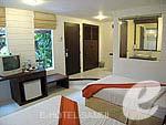 サムイ島 5,000円以下のホテル : エヴァーグリーン リゾート(Evergreen Resort)のデラックス ヴィラルームの設備 Bedroom