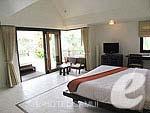 サムイ島 5,000円以下のホテル : エヴァーグリーン リゾート(Evergreen Resort)のジュニア スイートルームの設備 Bedroom