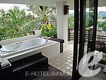 サムイ島 5,000円以下のホテル : エヴァーグリーン リゾート(Evergreen Resort)のジュニア スイートルームの設備 Bath Area
