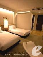 バンコク シーロム・サトーン周辺のホテル : グロウ トリニティ シーロム バンコク(Glow Trinity Silom Bangkok)のデラックスルームの設備 Bedroom