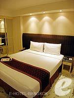 バンコク スクンビットのホテル : グランド プレジデント(Grand President)のオパール スタジオルームの設備 Bedroom