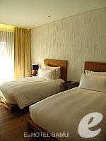 サムイ島 オーシャンビューのホテル : ハンサー サムイ リゾート & スパ(Hansar Samui Resort & Spa)のシービュー ルームルームの設備 Bedroom