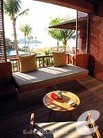 サムイ島 オーシャンビューのホテル : ハンサー サムイ リゾート & スパ(Hansar Samui Resort & Spa)のシービュー ルームルームの設備 Balcony