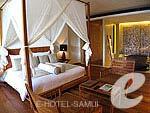 サムイ島 オーシャンビューのホテル : ハンサー サムイ リゾート & スパ(Hansar Samui Resort & Spa)のビーチフロント ルームルームの設備 Bedroom