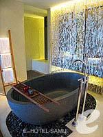 サムイ島 オーシャンビューのホテル : ハンサー サムイ リゾート & スパ(Hansar Samui Resort & Spa)のビーチフロント ルームルームの設備 Bathtub