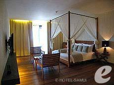 サムイ島 オーシャンビューのホテル : ハンサー サムイ リゾート & スパ(1)のお部屋「ビーチフロント ルーム」