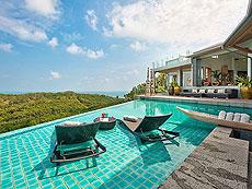 サムイ島 チョンモーンビーチのホテル : ヒルトップ4(1)のお部屋「6ベッドルーム」