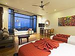 サムイ島 チョンモーンビーチのホテル : ヒルトップ4(Hill Top Villa 4)の8ベッドルームルームの設備 Bedroom