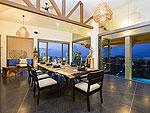 サムイ島 チョンモーンビーチのホテル : ヒルトップ4(Hill Top Villa 4)の8ベッドルームルームの設備 Dining Area