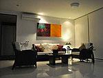 サムイ島 チョンモーンビーチのホテル : ヒルトップ5(Hill Top Villa 5)の2ベッドルームルームの設備 Living Room