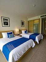 プーケット スパ併設のホテル : ホリデーイン リゾート プーケット マイカオ ビーチ(Holiday Inn Resort Phuket Mai Khao Beach)のデラックス プール フェイシングルームの設備 Room View