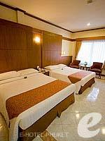 プーケット パトンビーチのホテル : ホライゾン パトン ビーチ リゾート & スパ(Horizon Patong Beach Resort Hotel)のデラックス(ツイン/ダブル)ルームの設備 Bedroom