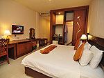 プーケット ファミリー&グループのホテル : ハイトン リーラヴァディ リゾート(Hyton Leelavadee Resort)のデラックス(シングル)ルームの設備 Bed Room