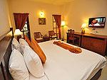 プーケット ファミリー&グループのホテル : ハイトン リーラヴァディ リゾート(Hyton Leelavadee Resort)のデラックス(ツイン/ダブル)ルームの設備 Bed Room