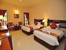 プーケット ファミリー&グループのホテル : ハイトン リーラヴァディ リゾート(1)のお部屋「デラックス(ツイン/ダブル)」