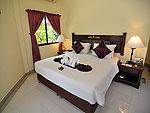 プーケット ファミリー&グループのホテル : ハイトン リーラヴァディ リゾート(Hyton Leelavadee Resort)のコテージ(シングル)ルームの設備 Bedroom