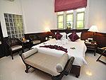 プーケット ファミリー&グループのホテル : ハイトン リーラヴァディ リゾート(Hyton Leelavadee Resort)のデラックス コテージ(ツイン/ダブル)ルームの設備 Bedroom