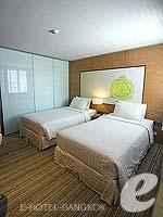 バンコク ファミリー&グループのホテル : アイ レジデンス(i Residence)のデラックスルームの設備 Bedroom
