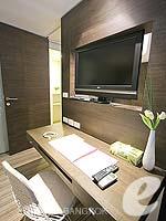 バンコク ファミリー&グループのホテル : アイ レジデンス(i Residence)のジュニア スイートルームの設備 LCD TV