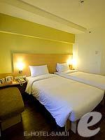 サムイ島 5,000円以下のホテル : アイビス サムイ ボプット(Ibis Samui Bophut)のスタンダードルームの設備 Bedroom