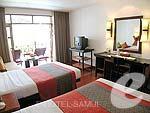 サムイ島 チョンモーンビーチのホテル : インペリアル ボートハウス ビーチ リゾート(Imperial Boat House Beach Resort)のプレミアルームの設備 Bedroom