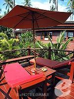 サムイ島 チョンモーンビーチのホテル : インペリアル ボートハウス ビーチ リゾート(Imperial Boat House Beach Resort)のボートスイートルームの設備 Terrace