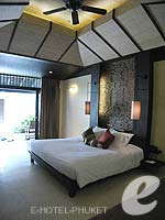 プーケット スパ併設のホテル : インピアナ プーケット パトン(Impiana Phuket Patong)のデラックス シービュールームの設備 Bedroom